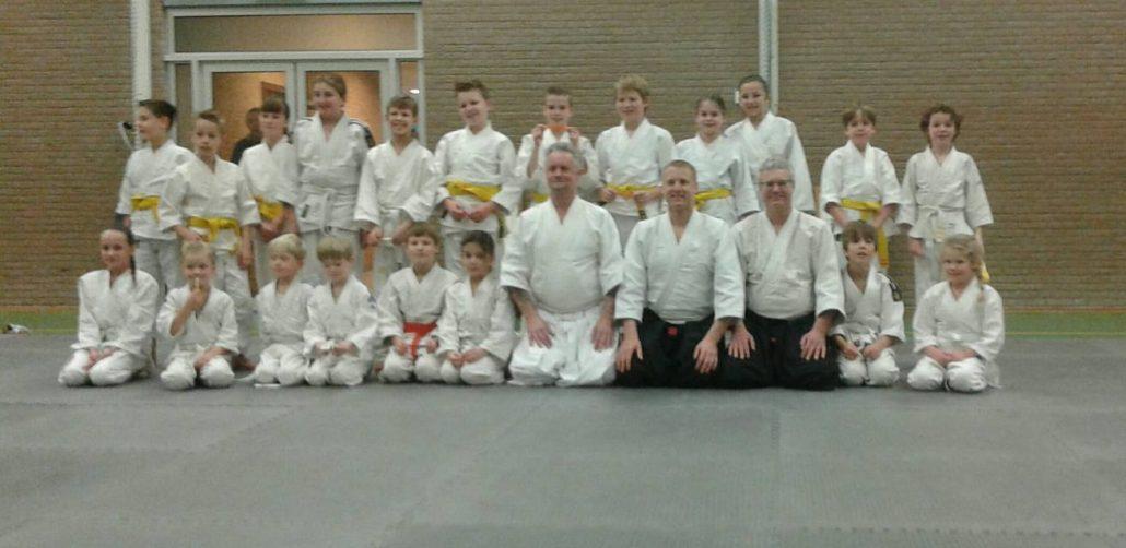 Kids Grading Ki Aikido School Breukelen sensei de Bruin and Bennet february 2016